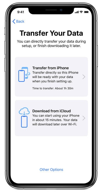 transfer data to iPhone11