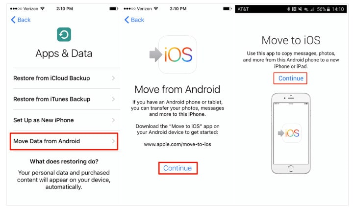 How to Transfer Data from Android to iPhone XS (Max)