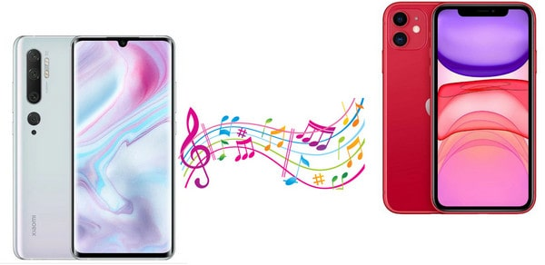 Transfer Music from iPhone to Xiaomi Mi Note10