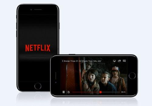 how to watch netflix offline on iphone