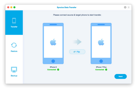 PanFone Phone to Phone Transfer for Mac: iPhone to Android Data Transfer