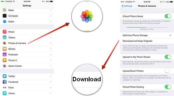 Close iCloud photo library